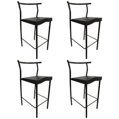 "Set of Four Philippe Starck ""Hi-Gold"" Bar / Counter Stools for Kartell, Italy"