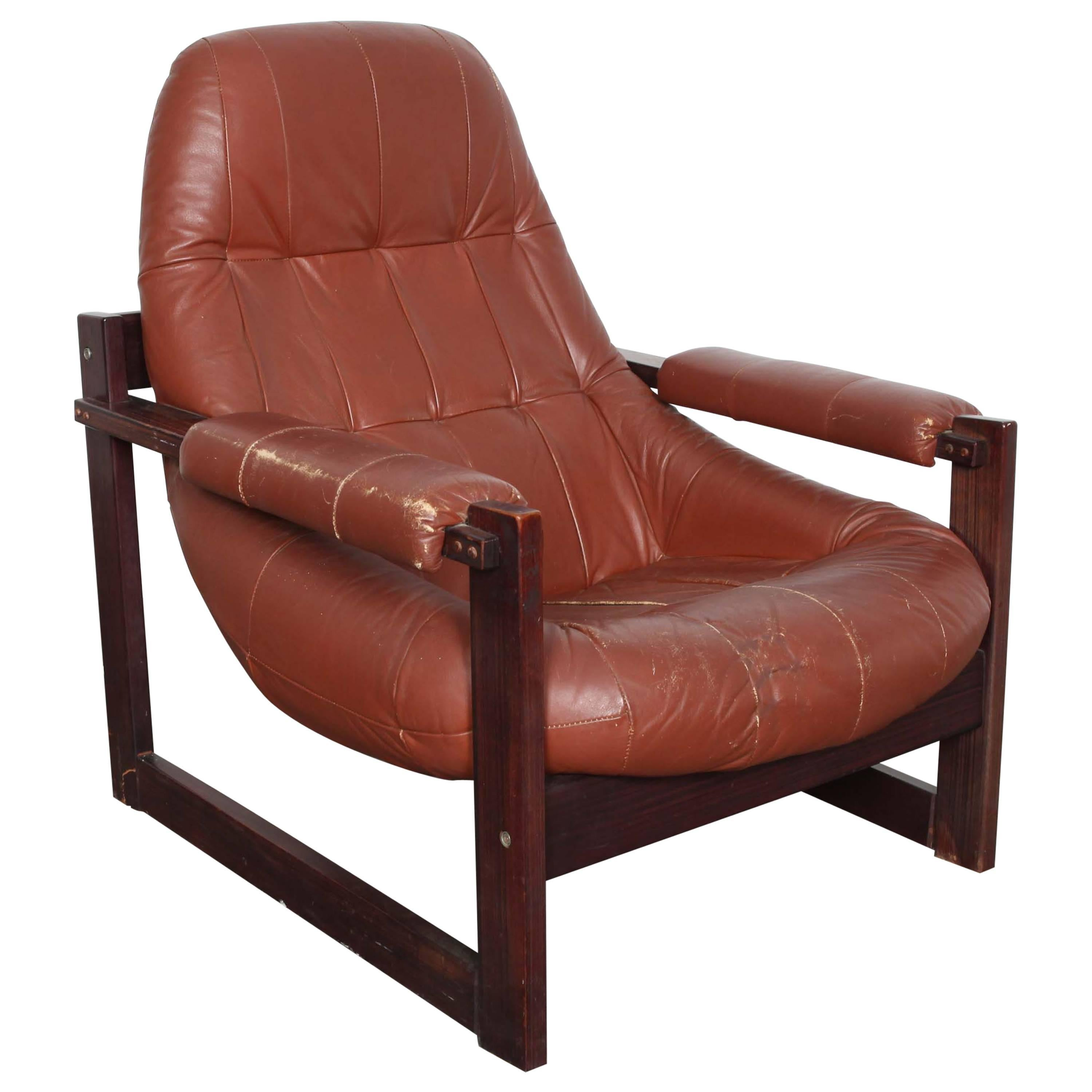 Leather Lounge Chair By Percival Lafer From Brazil For Sale At 1stdibs