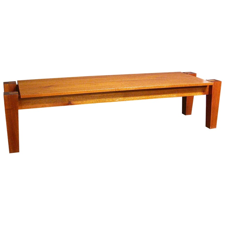 Rob Edley Welborn Spanish Cedar Prototype Bench Or Coffee Table For Sale At 1stdibs
