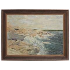 1950s Swedish Seascape Painting
