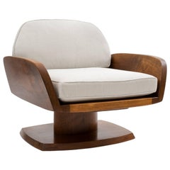 Robert Whitley American Studio Craft Movement Upholstered Lounge Chair, 1968