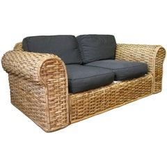 Woven Rattan Sofa by Ralph Lauren