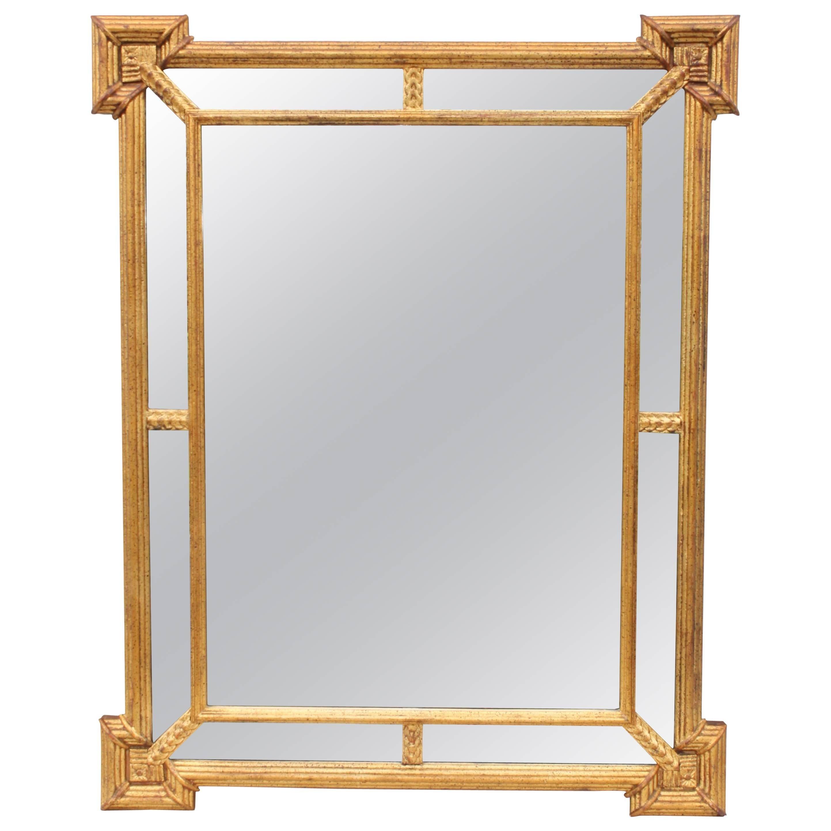 1950s Italian Giltwood Mirror By La Barge