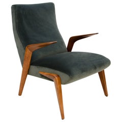 Italian Lounge Chair D71 Osvaldo Borsani for Tecno