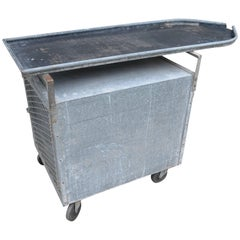 Bar on Wheels / Potting Table / Plant Stand from Galvanized Vet Exam Table