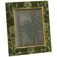 Picture Frame in Green Cut Velvet
