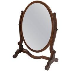 Victorian Style Mahogany Vanity Mirror