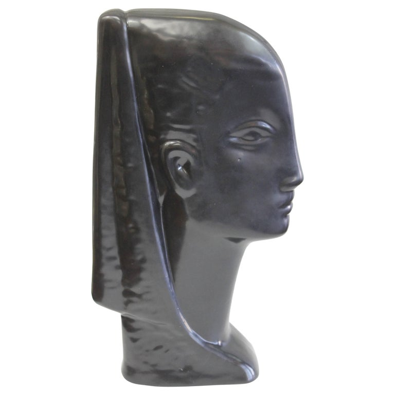 Ceramic Egyptian Bust For Sale