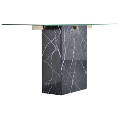 Artedi Console Table in Black Marble, Italy, 1970