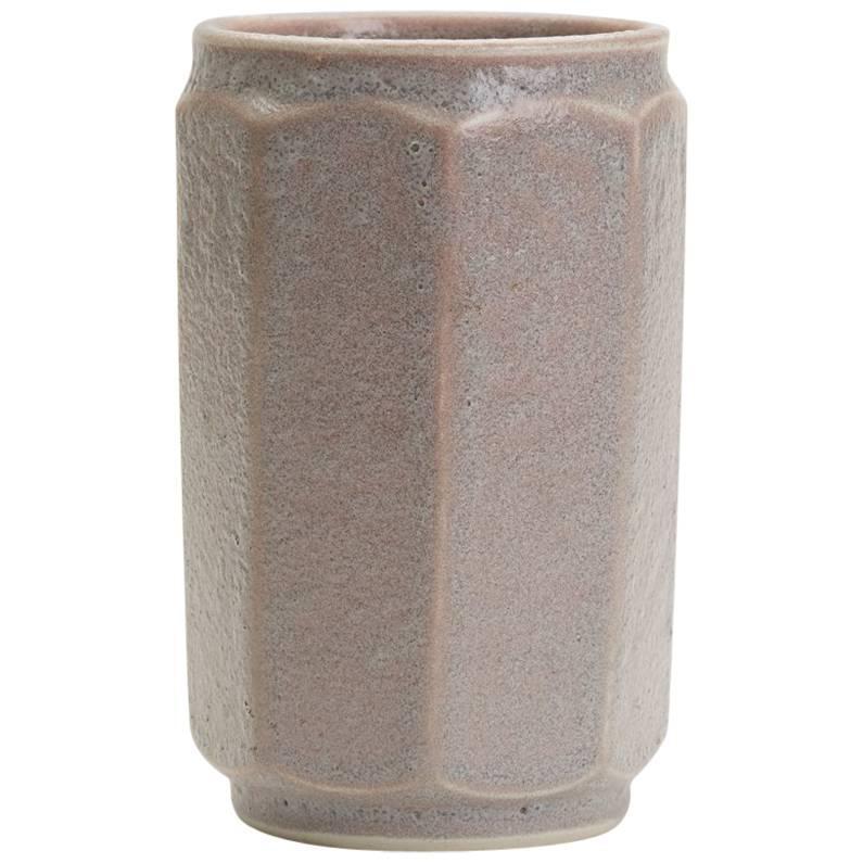 Vintage Loughton Studio Pottery Lava Glazed Vase T W Howard, 1971