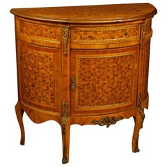 20th Century French Inlaid Sideboard with Bronze and Brass