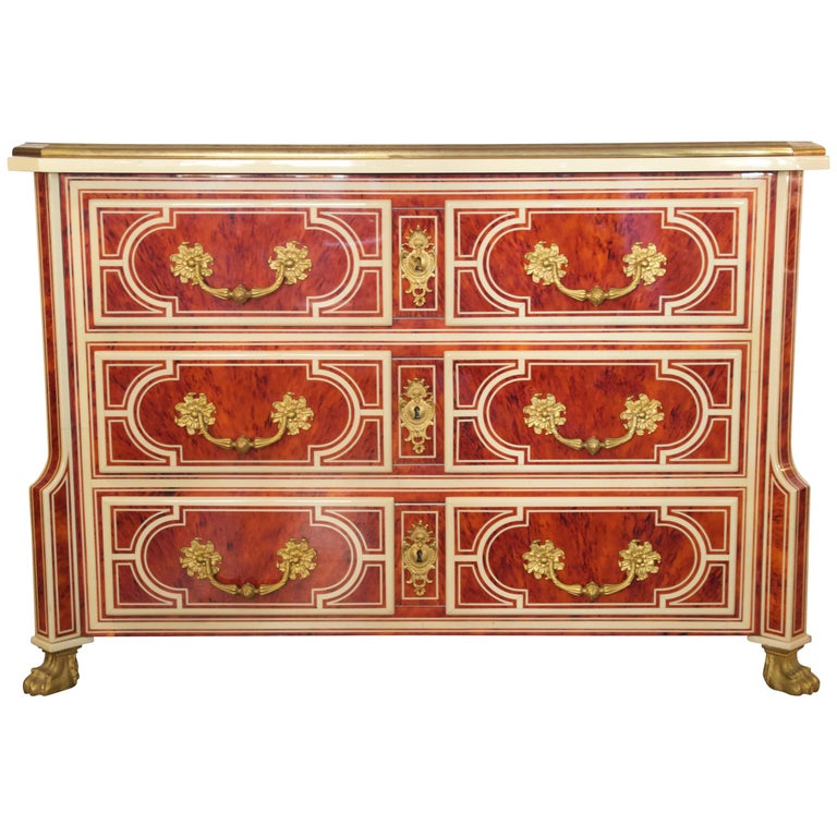 Style Jean Claude Mahey, Chest of Drawers Mazarine, circa 2000 For Sale