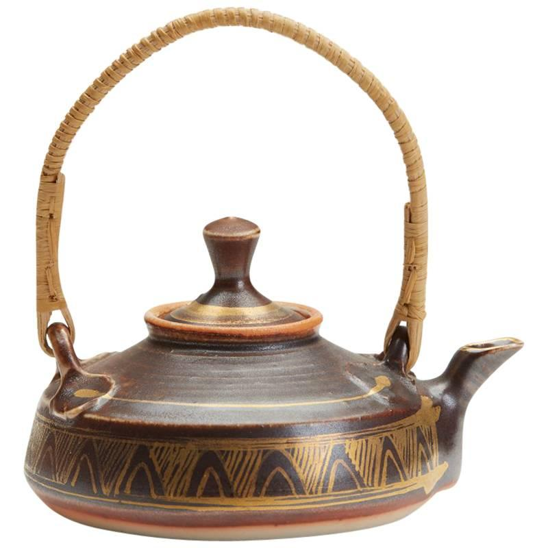 Mary Rich Studio Pottery Miniature Teapot, 20th Century
