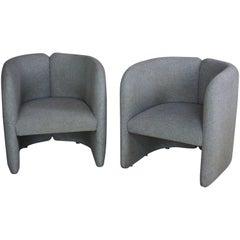 Pair of Club Armchairs Dutch Design
