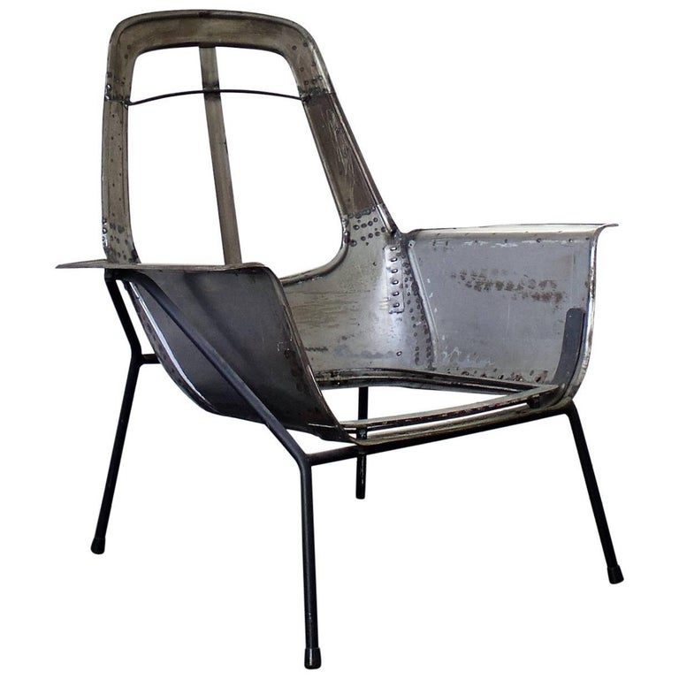 """Lucania"" Chair Frame by Giancarlo De Carlo for Arflex, Italy, 1950s"