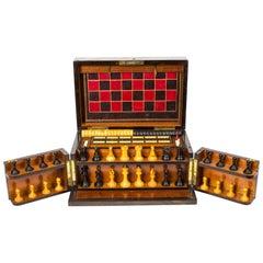 19th Century Victorian Coromandel Games Compendium Chess Drafts