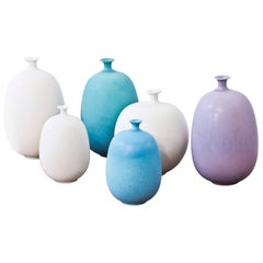 Set of Swedish Stoneware Vases by Inger Persson