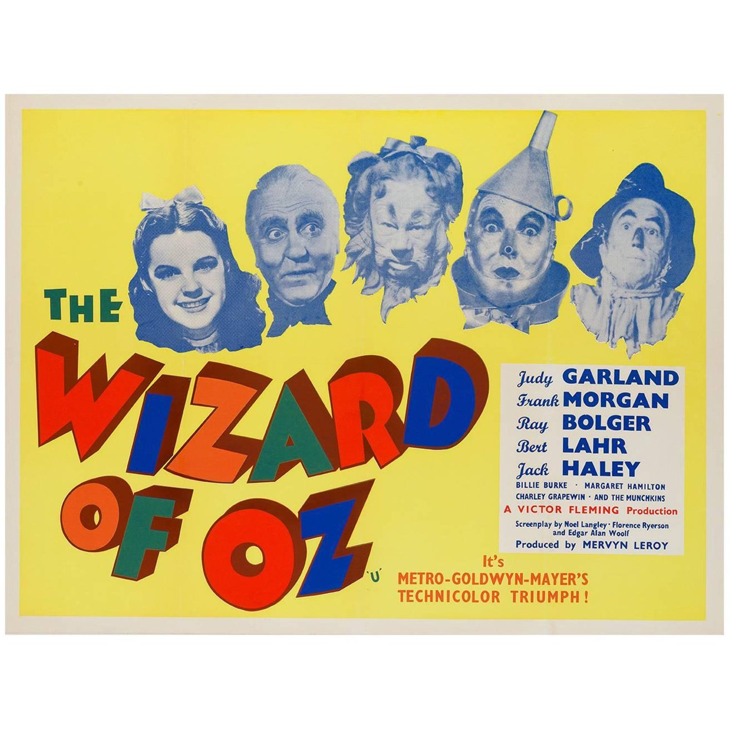 Wizard of Oz UK Film Poster, 1959 For Sale at 1stdibs