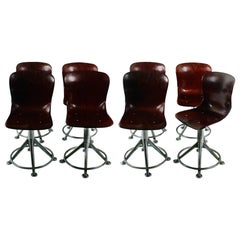 "Set of Eight ""Pagotz"" Swiveling Chairs"