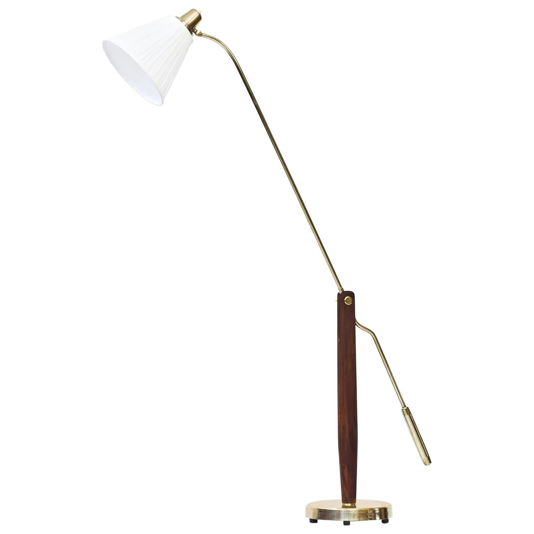 Rare Swedish 1940s Floor Lamp by Hans Bergström