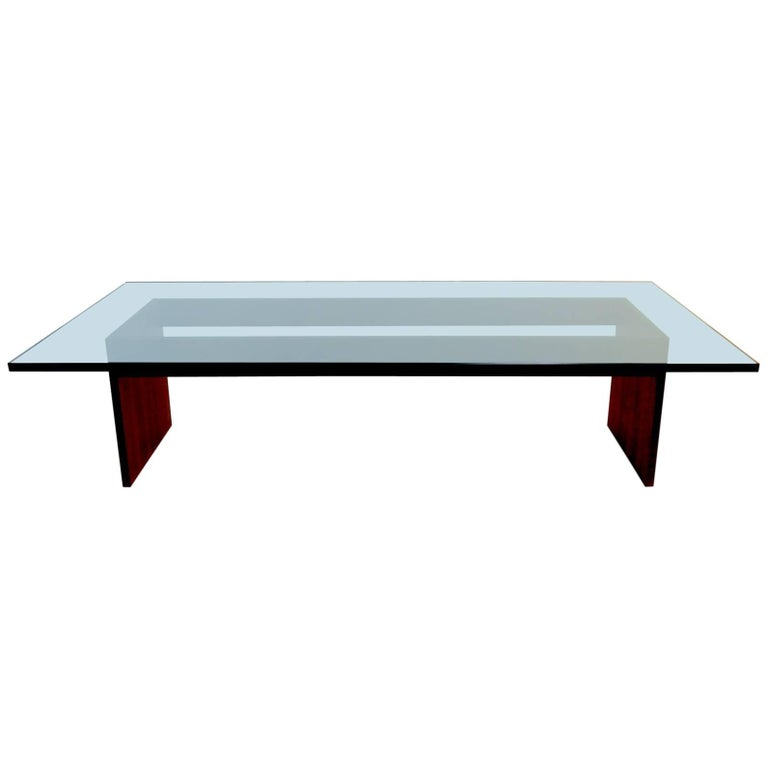 Custom minimalist wood and glass coffee table for sale at for Minimalist coffee table