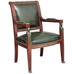 19th Century Mahogany and Ormolu Armchair