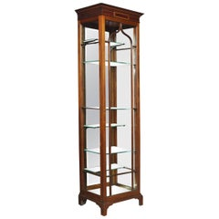 Edwardian Inlaid Mahogany Display Cabinet