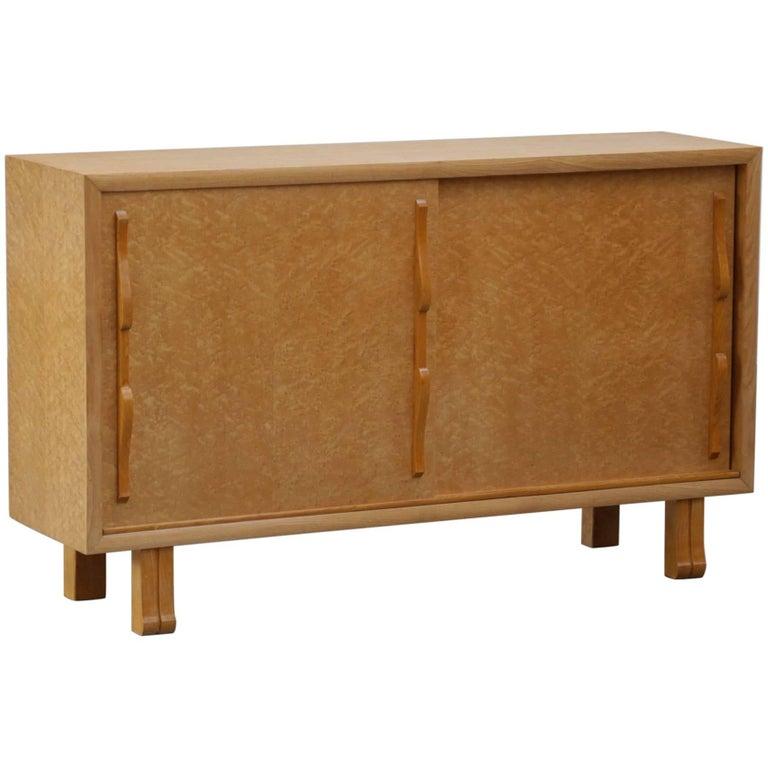 Small Buffet Cabinet 1960s Burr Walnut