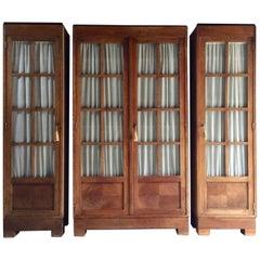 Rare Bruno Paul for Vereinigte Werkstatten Oak 'Typenmöbel' Cabinets, circa 1908