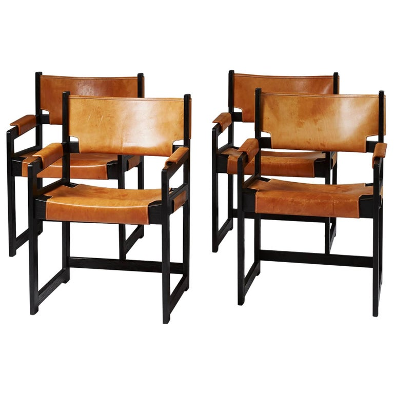 Set of Four Armchairs, Anonymous, Denmark, 1960s