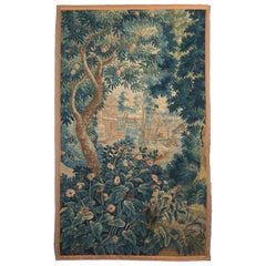 18th Century Aubusson Verdure Tapestry Depicting a Deer Hunt