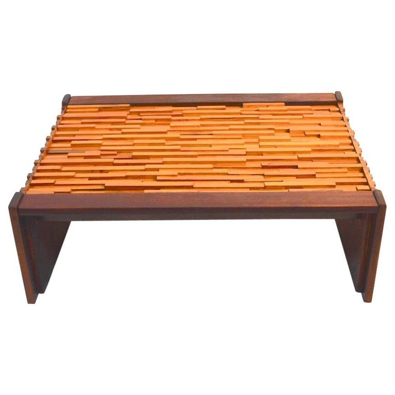 Percival Lafer Mixed Wood Coffee Table For