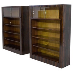 Pair of Macassar Ebony Art Deco Haagse School Bookcases by H.Wouda, 1924