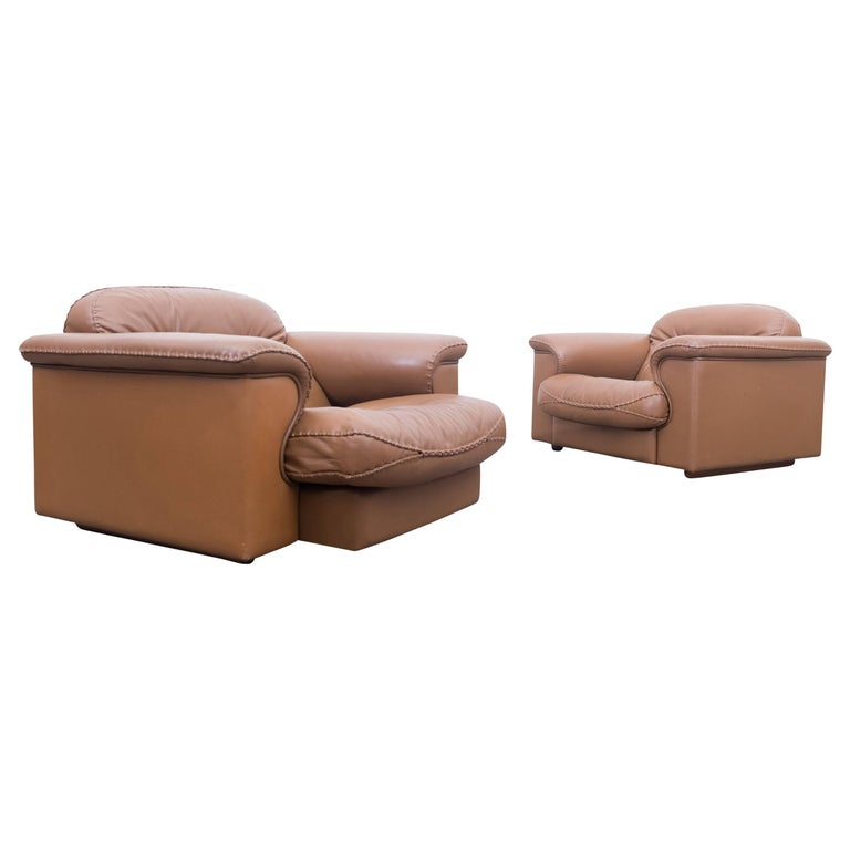 Set of Two Adjustable DS 101 Lounge Chairs by De Sede For Sale