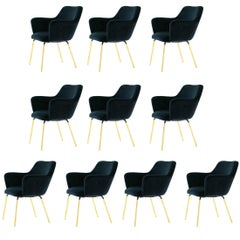 Set of Ten Airone Armchairs by Gio Ponti for Arflex