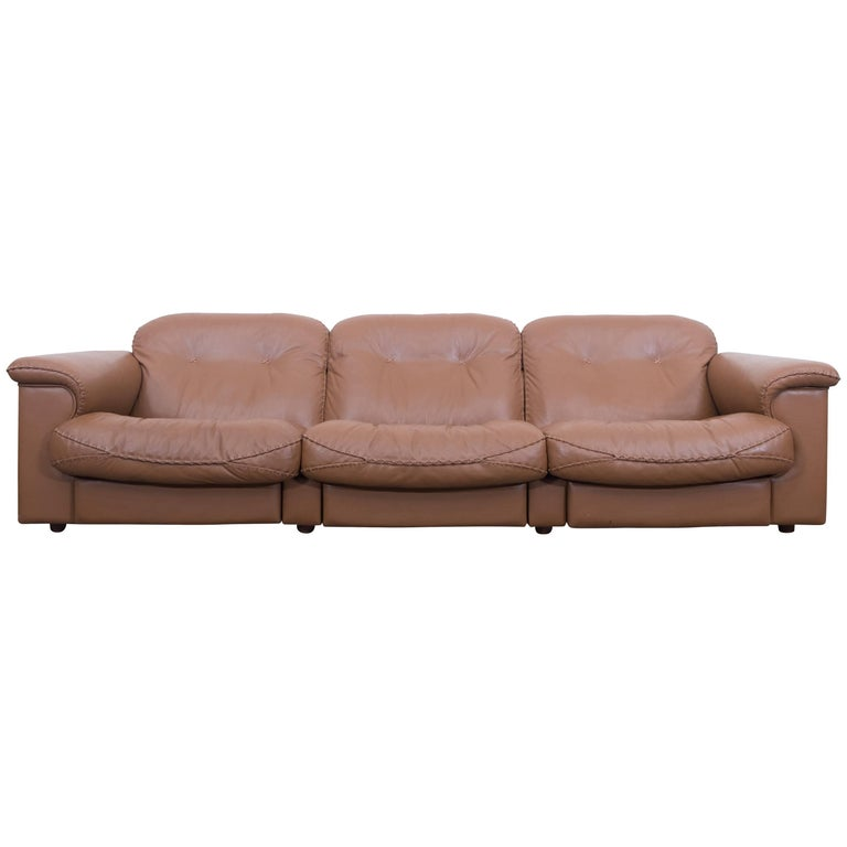 Adjustable DS 101 Three-Seat Sofa by De Sede