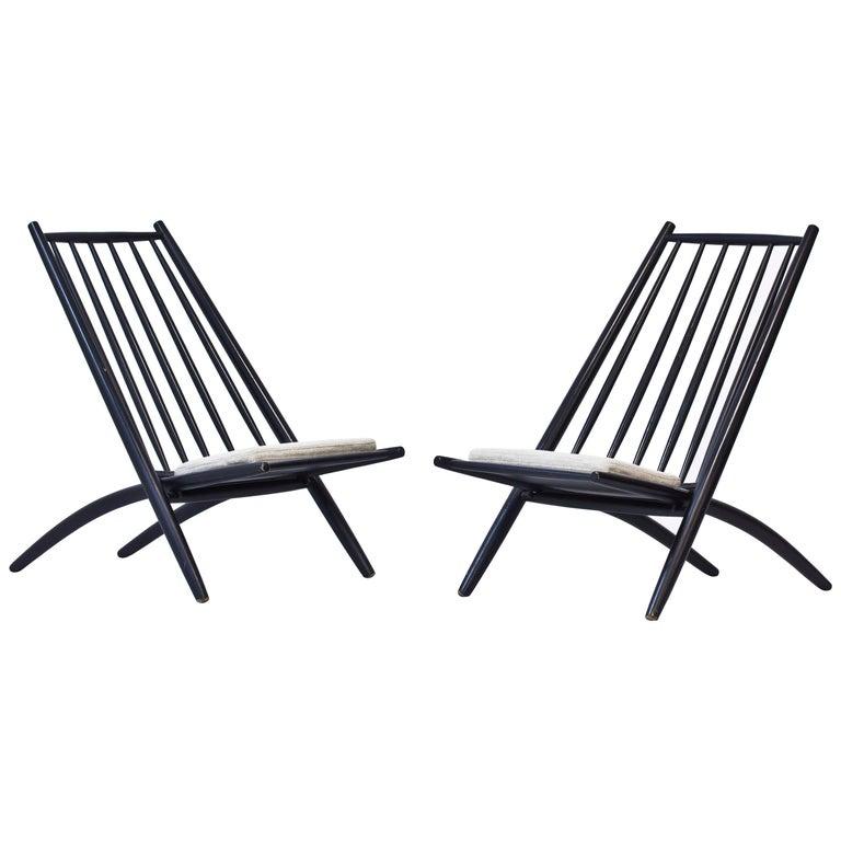 "Pair of 1950s ""Congo"" Easy Chairs by Ilmari Tapiovaara"