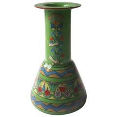 Art Deco Moser Enameled Vase in the Egyptian Style