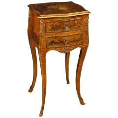 20th Century, French Lacquered, Painted Side Table