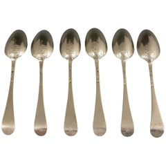 Set of Six Early George III Silver 'Fancy Back' Teaspoons John Lampfert London