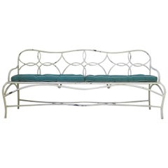 French 1950s Long Garden Bench