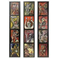 Marius Van Dijk Triptych, 1980s
