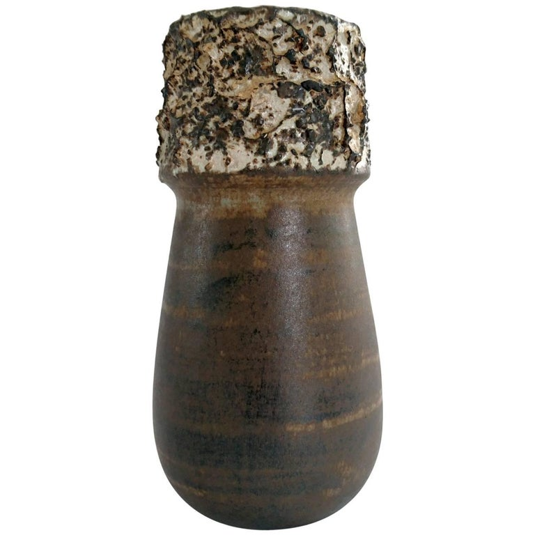 Brutalist Vase by Bruno Karlsson, Ego Stoneware, Sweden For Sale