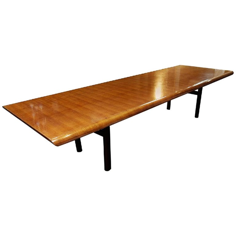 Exceptional Oversized Fluid Design Dining Table, circa 1960, Italy