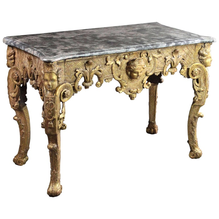 Late 17th Century Gilt wood Console Table For Sale