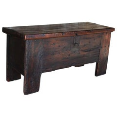 16th Century Chestnut Wood Chest or Stollentruhe