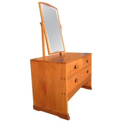Arts and crafts vanity dressing table with mirror at 1stdibs for Skinny dressing table