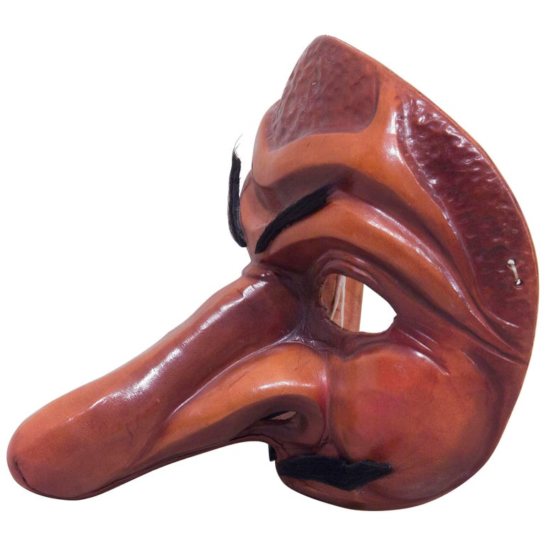 Traditional Leather Capitano Mask For Sale
