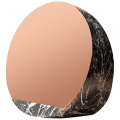 Marble Mirror by Objects of Common Interest, Solid Marble & Polished Copper A ss