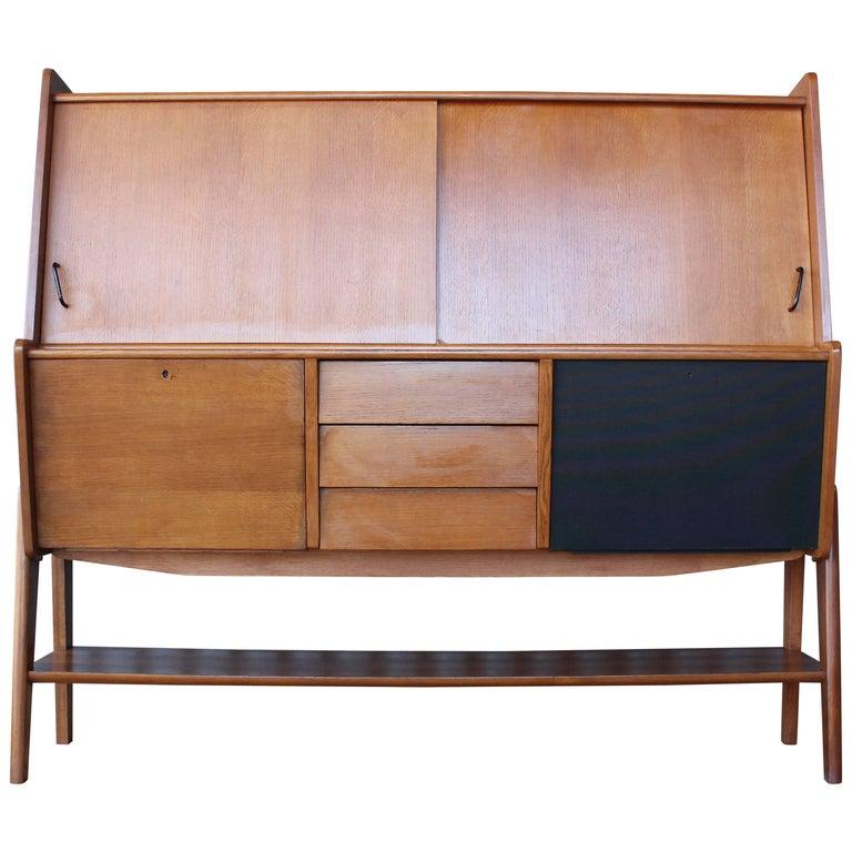 Midcentury Teak Sideboard, France, 1950s